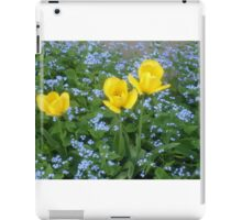 Three yellow tulips iPad Case/Skin