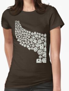 Dice spill Womens Fitted T-Shirt