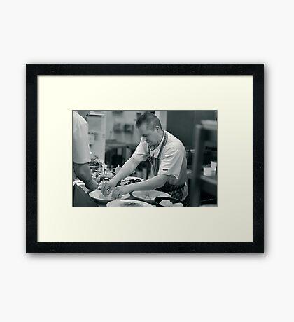 John Plates Up Framed Print