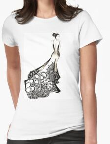 the bride. Womens Fitted T-Shirt