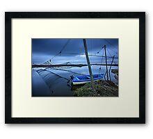 Lonely boat at the Delta of Aliakmonas river Framed Print