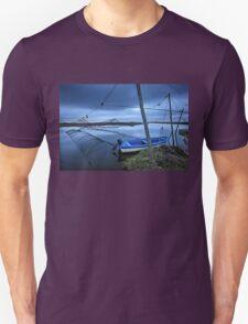 Lonely boat at the Delta of Aliakmonas river Unisex T-Shirt
