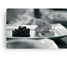 Monkfish and Beetroot Canvas Print