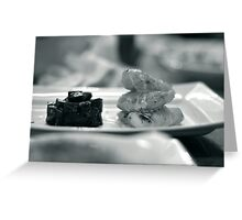 Monkfish and Beetroot Greeting Card