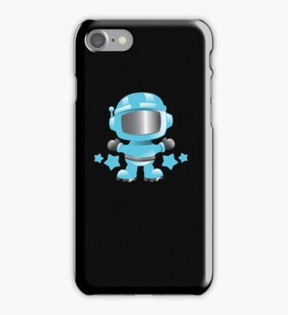 Little cute Space man in a Blue space suit iPhone Case/Skin