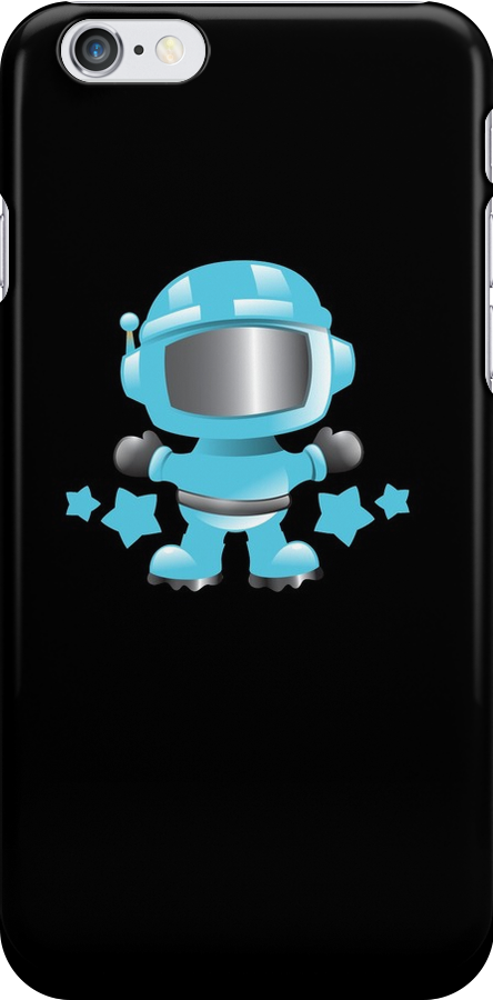 Little cute Space man in a Blue space suit by jazzydevil