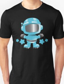 Little cute Space man in a Blue space suit T-Shirt