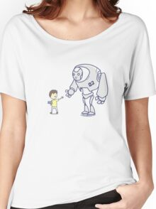 Robot meets boy Women's Relaxed Fit T-Shirt