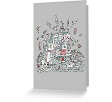 Transport City Greeting Card