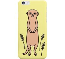 Happy Meerkat with Grasses iPhone Case/Skin