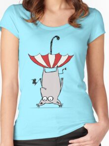 Upside Down Animal  Women's Fitted Scoop T-Shirt
