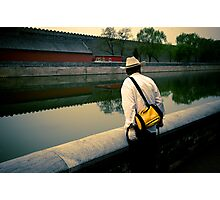 The Man Outside The Forbidden City Photographic Print