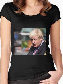 Boris Johnson, mayor of London Women's Fitted Scoop T-Shirt