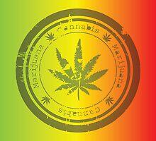 Marijuana stamp by hibrida13