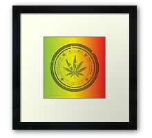 Marijuana stamp Framed Print