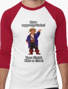 You fight like a cow! Men's Baseball ¾ T-Shirt
