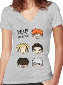 Big Bang Fan Art 1.0 Women's Fitted V-Neck T-Shirt