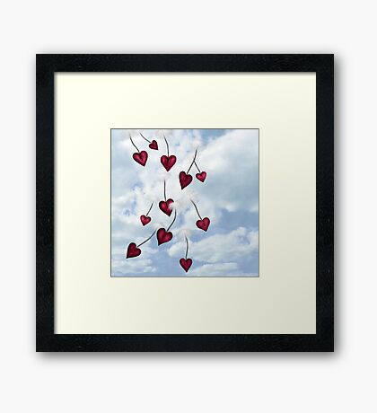 Heart Seeds Version 1 Framed Print