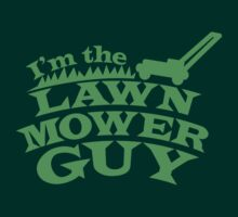 I;m the LAWNMOWER guy! with mower in green by jazzydevil