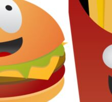 BFF Best Friends Forever Burger And Fries Sticker