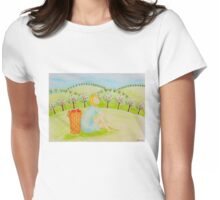 Apple girl Womens Fitted T-Shirt