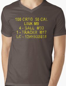 50 Cal Ammo Can Mens V-Neck T-Shirt