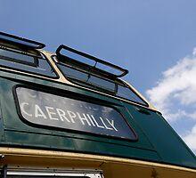 Destination Caerphilly, vintage bus by buttonpresser