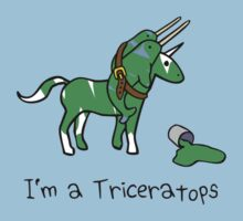 I'm A Triceratops (Unicorn + Narwhals) by jezkemp