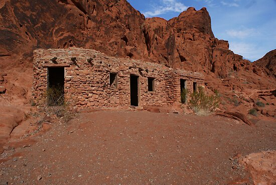 1930's Stone Cabin in Valley of Fire by Leonard Shaefer