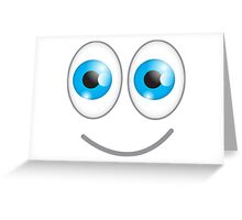 Funny cute wacky BLUE eyes looking with a smile Greeting Card