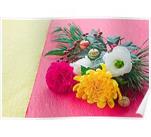 The Decoration Flower Of New Year Poster