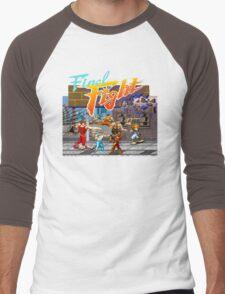 Metro City on fire! Men's Baseball ¾ T-Shirt