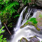 MIDDLE FALLS AT RAYMONDSKILL by MIKESANDY