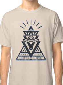 Connect With The Universe 2 - Typography and Geometry Classic T-Shirt