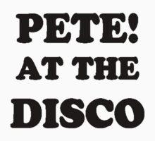 Pete! at the disco! (Black) Kids Tee