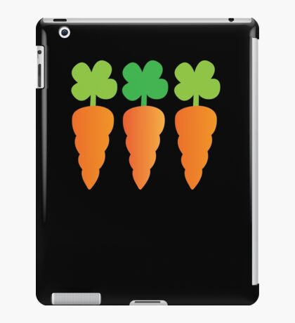 Three carrots orange vegetables iPad Case/Skin