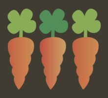 Three carrots orange vegetables by jazzydevil