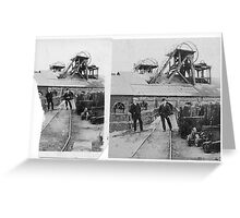 1910 High Pit Coal Mine, Northumberland Greeting Card