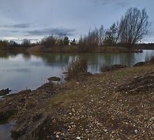 Sunset over Maxey Pits by Nick Atkin