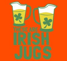 These are IRISH Jugs with green shamrcoks Kids Tee