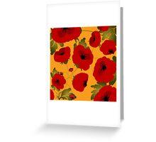 Poppy field forever Greeting Card