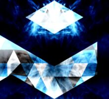 9GAG Electrifying blue sparkly triangle flames Sticker