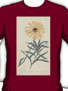 The Botanical magazine, or, Flower garden displayed by William Curtis V11 V12 1797 1798 0103 Calendula Tragus Bending Stalked Marigold T-Shirt