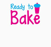 READY to BAKE! with cute cupcake! Womens Fitted T-Shirt