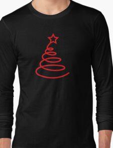 Twirly cute Christmas tree Long Sleeve T-Shirt