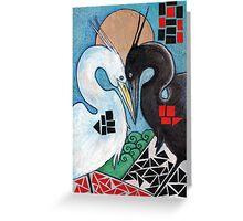 The Heron's Shadow Greeting Card