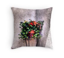 The Corner Flower Pot Throw Pillow