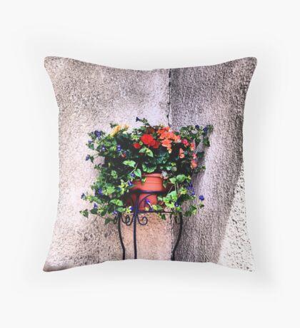 The Corner Flower Pot Throw Pillow