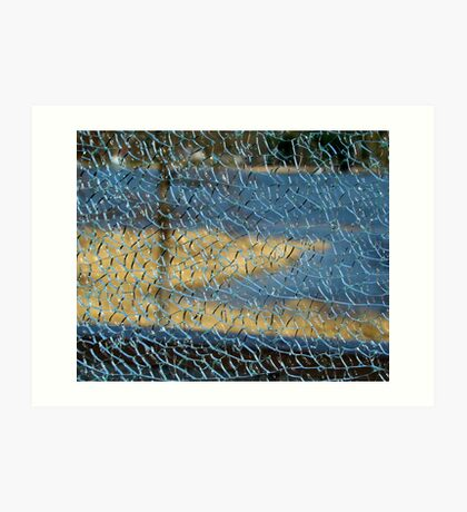Sea View Through a Broken Glass Art Print