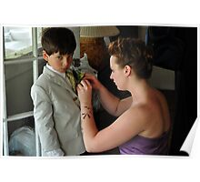 Putting On The Boutonnière Poster